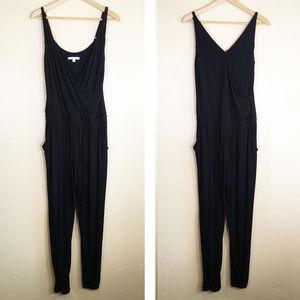 CAbi Black Wrap Jumpsuit Style 312 Romper S